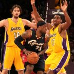 LeBron James, here going up against the Los Angeles Lakers in 2008, won&#039;t be wearing a Cleveland Cavaliers uniform next season./Burt Harris/HGSTAR 1 News