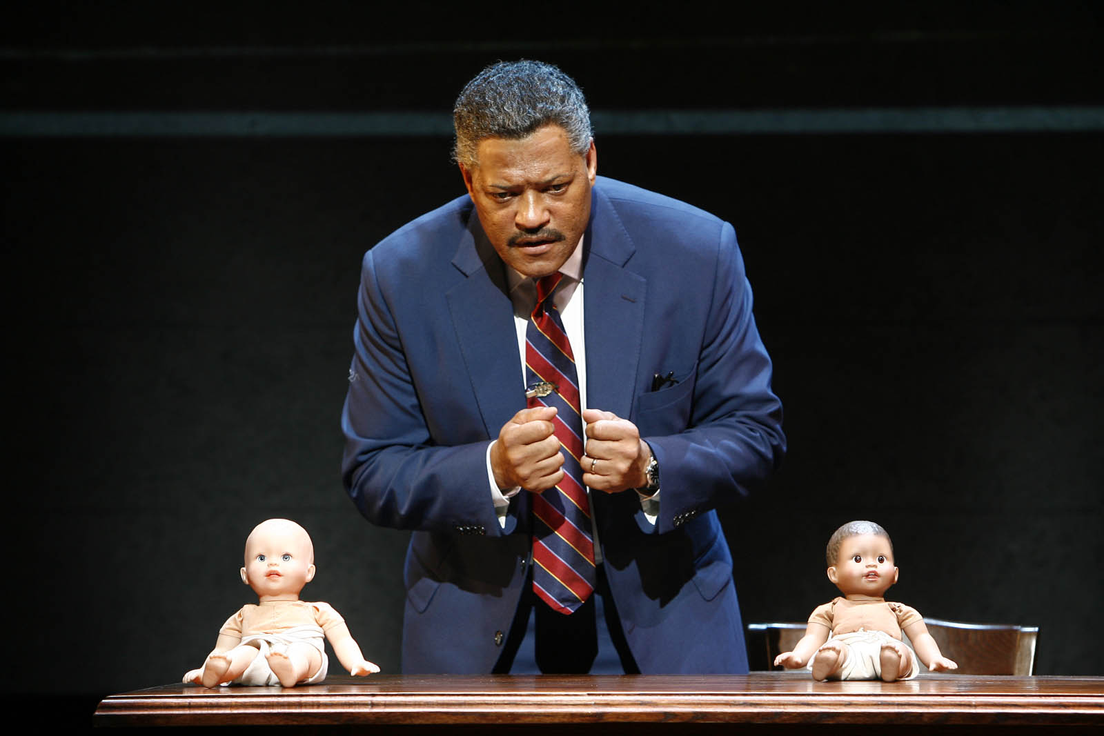 "Actor Lawrence Fishburne turns up the heat in ""Thurgood,"" a stage play on former Supreme Court Justice Thurgood Marshall./Photo/Carol Rosegg"