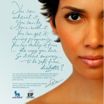 Actress Halle Berry in a Diabetes PSA announcement in 2007./PRNewsFoto