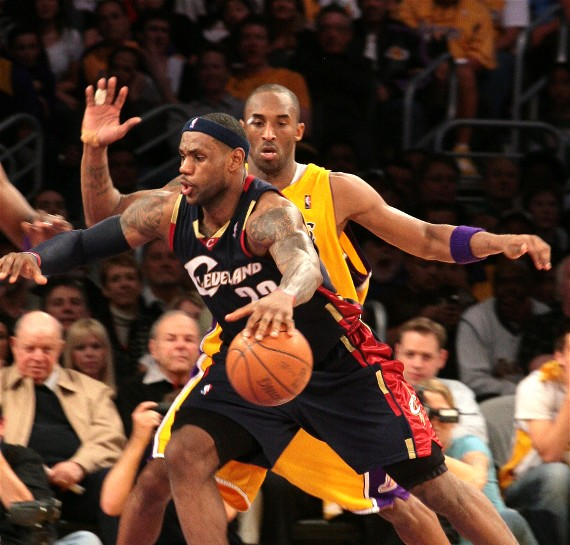 LeBron James and Kobe Bryant will go toe-to-toe on Christmas Day./Burt Harris/HGStar 1 News