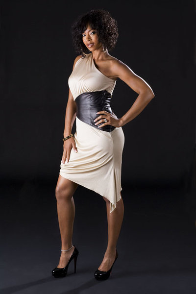 Kimberli Russell, wife of former NBA star Byron Russell, brings a new dimension to VH1's Basketball Wives./VH1