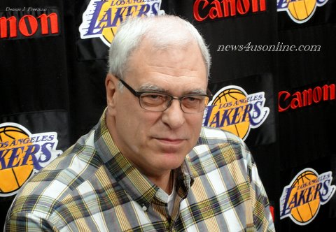 Phil Jackson at his last media session as coach of the Los Angeles Lakers./Photo Credit: Dennis J. Freeman/news4usonline.com