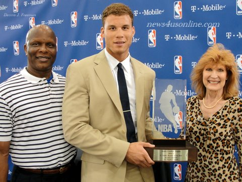 Blake Griffin Parents Blake griffin celebrates