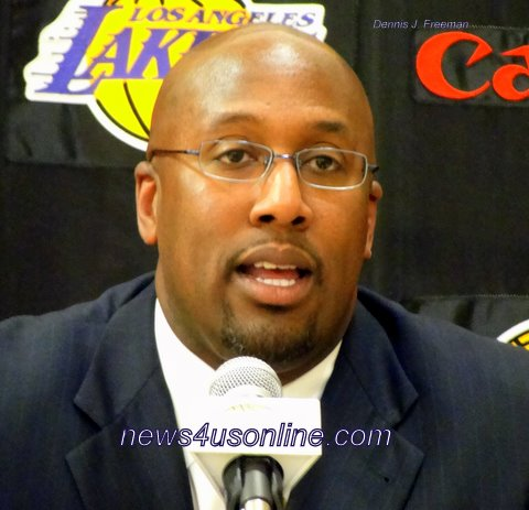By Dennis J. Freeman El Segundo, CA-The Los Angeles Lakers introduced new coach Mike Brown to the local and national...