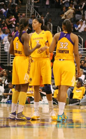 Los Angeles Sparks standouts Candace Parker (3) and Tina Thompson (32) are two of the reasons why the WNBA has thrived the last 15 years./Kihana Manker/news4usonline.com