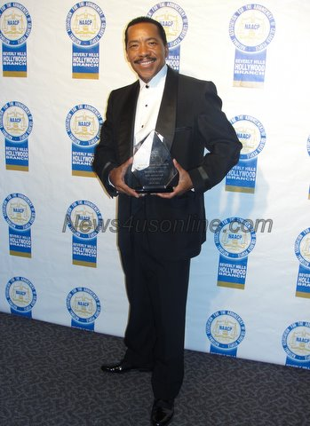 Veteran stage and film actor Obba Babatunde recieves some long overdue recognition at the 21st NAACP Theatre Awards in Los Angeles./Dennis J. Freeman