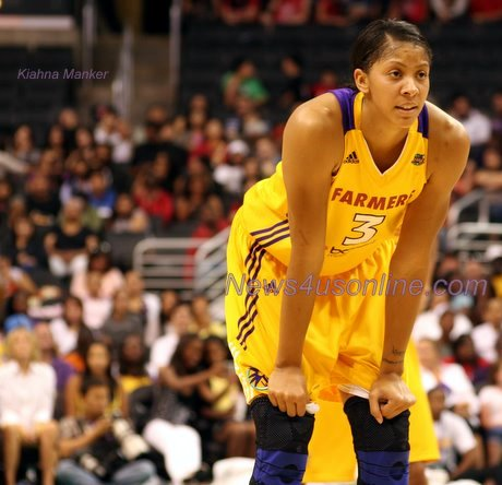 Candace Parker and Los Angeles Sparks teammates are looking to the future after failing to make the playoffs this season./Photo: Kiahna Manker