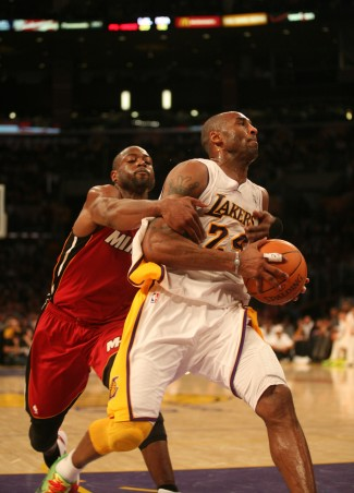 Dwayne Wade and Kobe Bryant will once agin battle for NBA supremacy./Photo/Burt Harris