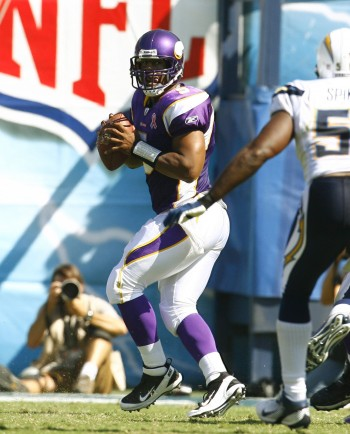 Donovan McNabb and black quarterbacks often do not get the glory as their white counterparts./Photo/Kevin Terrell