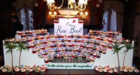 """A full """"Nadia Cakes"""" display fit for a king. Nadia Cakes and owner Abby Jimenez were the winners of the Food Network's """"Cupcake Wars."""" Photo Credit: Daniel Photography/Nadia Cakes"""