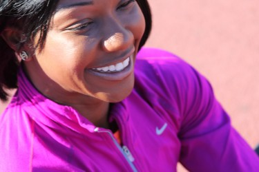 "World champion sprinter Carmelita Jeter, who lays claim as the ""Fastest Woman Alive"" by winning the gold medal in the..."