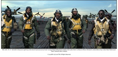 "Film Review By Dennis J. Freeman The much-anticipated George Lucas film ""Red Tails"" looks good on the exterior. It's..."