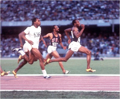 Olympic gold medal winner Jim Hines broke the mold in the 100 meters. And he did it on the worlds...