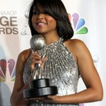 Taraji P. Henson celebrates her NAACP Image Award for Outstanding Actress in a Television Mini-Series or Dramatic Special. Photo Credit: Carmen Williams
