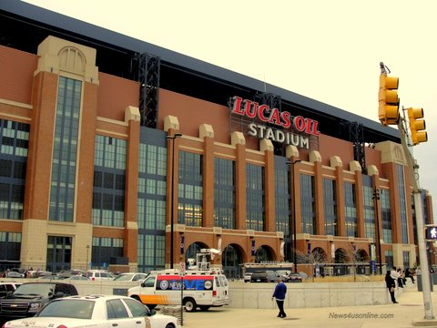 Lucas Oil Field in Indianapolis, Indiana, was the home to Super Bowl XVLI.