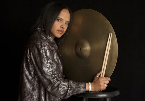 "Marching to a different drummer is Teri Lyne Carrington and her Grammy-winning CD ""The Mosaic Project."" Photo Credit: Tracey Love"