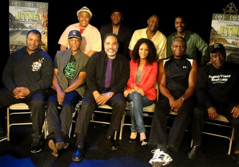 "The cast of August Wilson's hit stage play,""Jitney,"" now playing at the Pasadena Playhouse in Pasadena, California. Photo: Dennis J. Freeman"