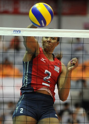 Danielle Scott-Arruda is on her fifth U.S. Olympic team. Photo: FIVB