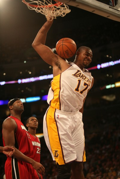 Dealt: Andrew Bynum has been sent packing to the Philadelphia 76ers in a four-team trade that brings Dwight Howard to the Los Angeles Lakers. Photo Credit: Burt Harris/HGStar1News