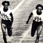 Tennessee State University&#039;s Wyomia Tyus (right) was the first person to record back-to-back wins in the 100 meters in consecutive Olympics. Photo courtesy of Tennessee State University