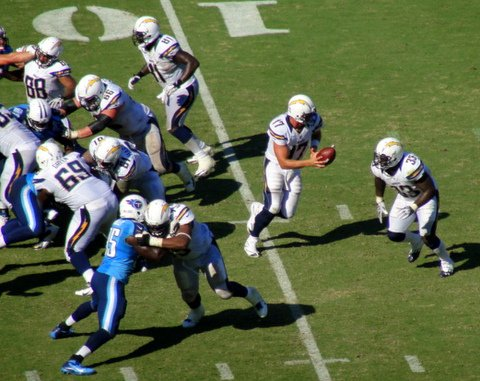 Chargers quarterback Philip Rivers and the team's offense had a real productive day against the Tennessee Titans.
