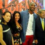 "Kobe Bryant, along with wife Vanessa Bryant, Los Angeles County Supervisor Zev Yaroslavsky and one of the board members of ""My Friend's Place,"" are looking to combat homelessness youth. Photo: Dennis J. Freeman"