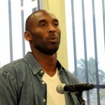 Leading the way: Los Angeles Lakers star Kobe Bryant means business about trying to get homeless young people off the streets. Photo: Dennis J. Freeman