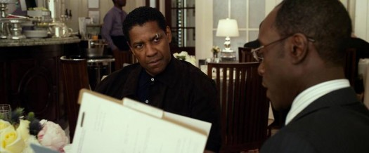 """Flight"" star Denzel Washington and movie co-star Don Cheadle. Photo courtesy of Paramount Studious"