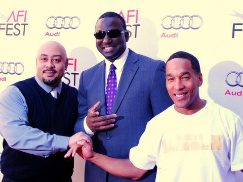 "Their Turn: Raymond Santana (left), Yusef Salam and Korey Wise attend the screening of ""The Central Park Five"" at the 2012 AFI Fest in Hollywood. Photo Credit: Dennis J. Freeman"