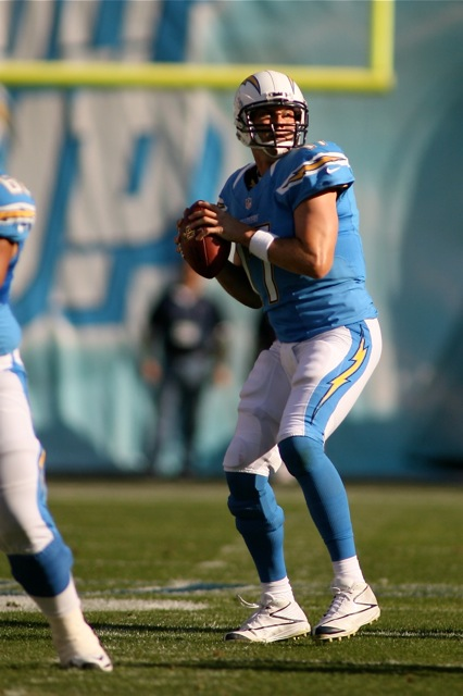 Quarterback Philip Rivers gave the San Diego Chargers new life with a three touchdown performance against the Pittsburgh Steelers. Photo Credit: J. Gaede