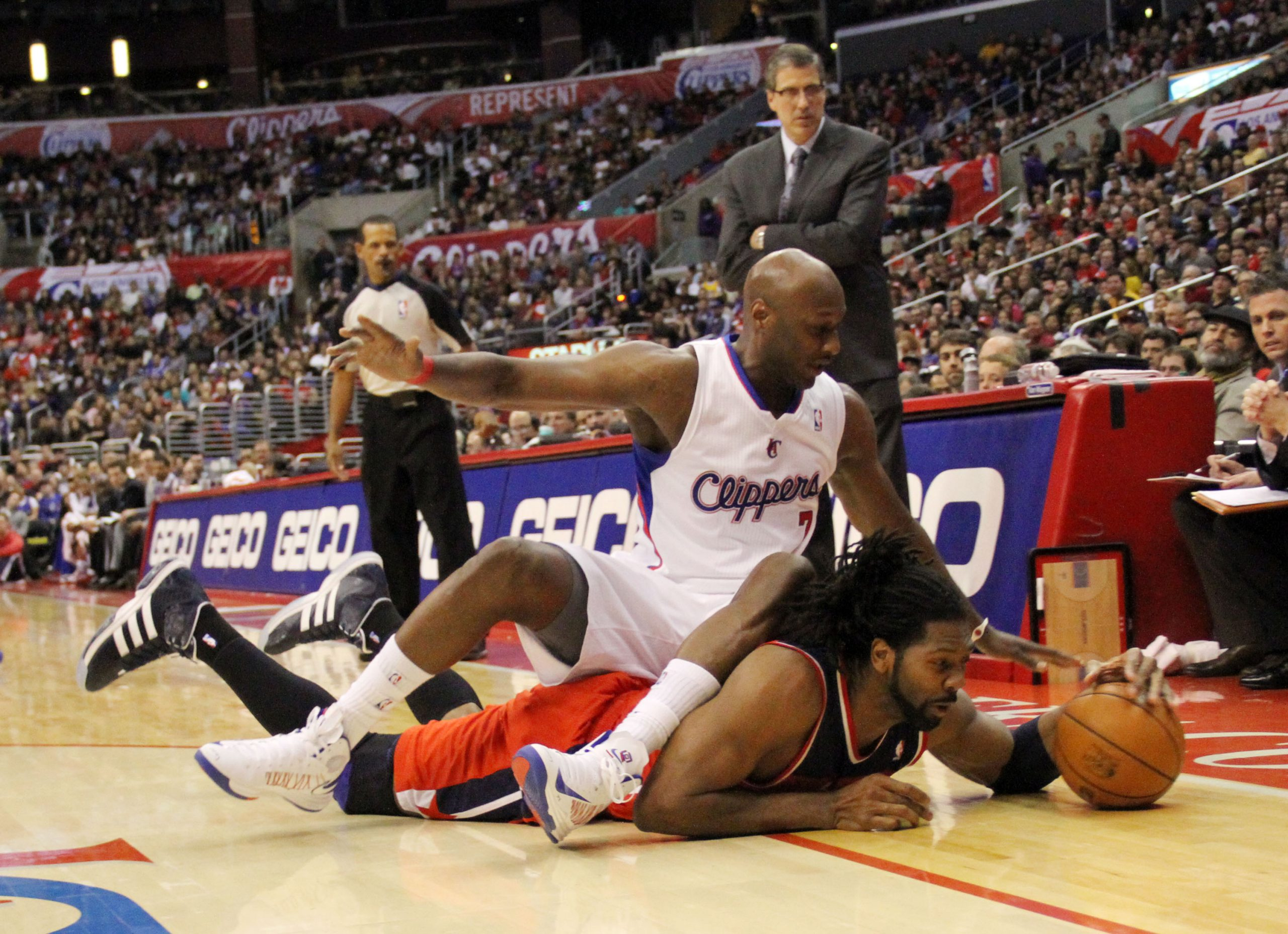 Things are looking up for Lamar Odom and the Los Angeles Clippers. Photo Credit: Burt Harris