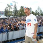 Outfielder Matt Kemp at the Dodgers Fanfest at Dodger Stadium Saturday, January 26, 2013. Photography by Jon SooHoo/Los Angeles Dodgers,LLC 2013.