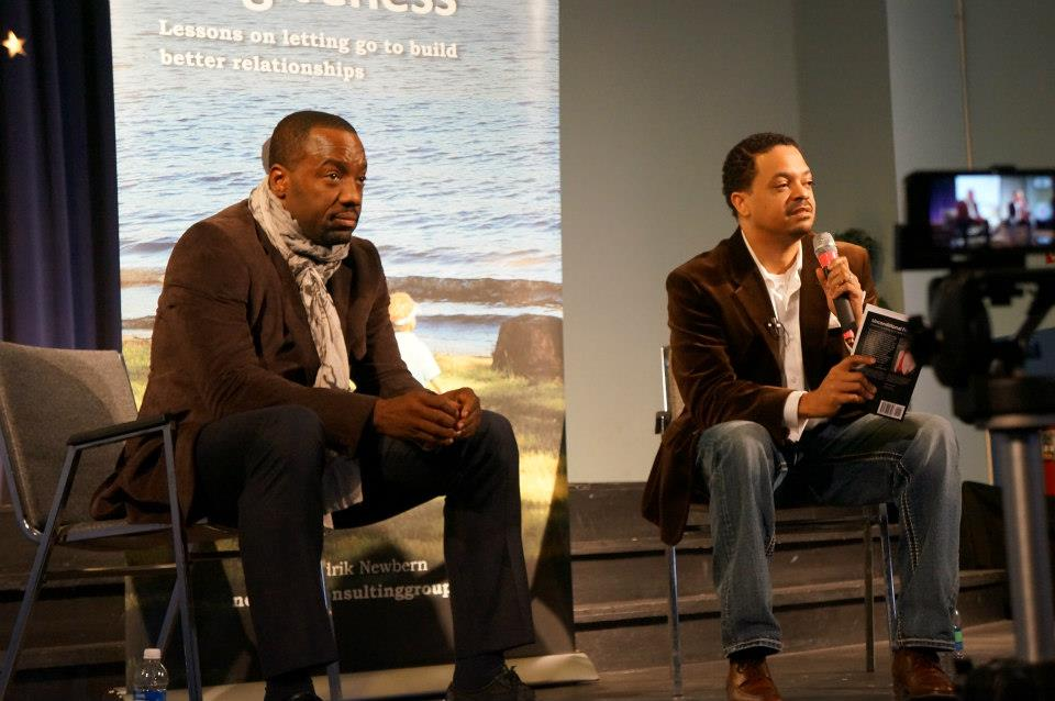 (Gary, Indiana) – The Glen Theater recently welcomed author Sedrik Newbern and TV/Film star, Malik Yoba, for a special reading...