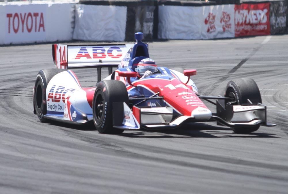 Winning Formula: Takuma Sato driving car #14 for A.J. Foyt Enter.at the 2013 Grand Prix of Long Beach in Long Beach, CA. Photo Credit: Kevin Reece/News4usonline.com