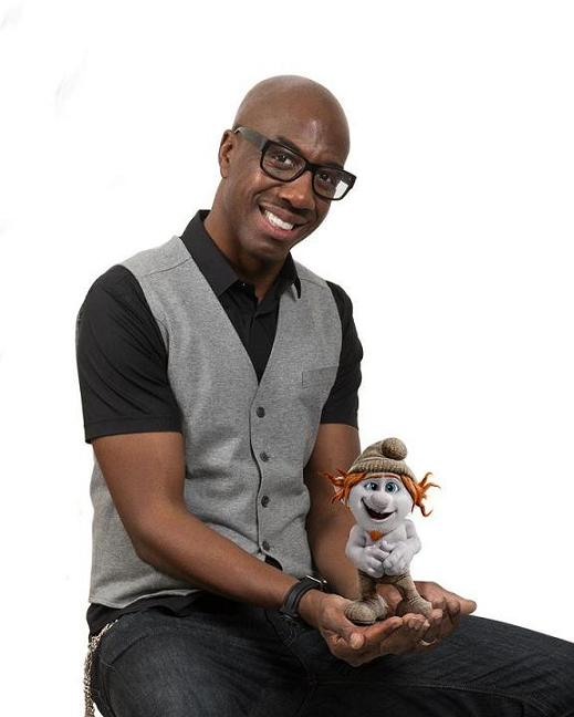"J.B. Smoove voices ""Hackus"" in Columbia Pictures and Sony Pictures Animation's SMURFS 2."