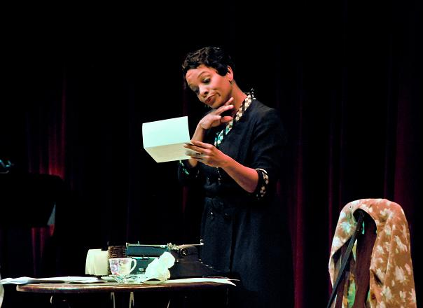 "Actress Vanessa Bell Calloway Shines in the stage play, ""Letters From Zora...In Her Own Words."" Photo Credit: Chris Roman"