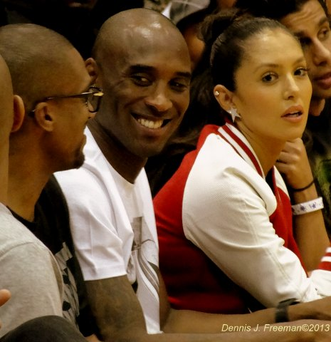 Kobe and Vanessa Bryant at the championship game at the Drew League. Photo: Dennis J. Freeman