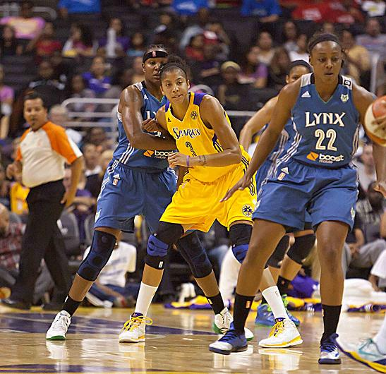 Candace Parker picked up her second WNBA most valuable player award. Photo Credit: Jevone Moore/News4usonline.com
