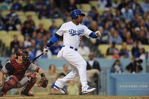 Carl Crawford leads the Dodgers rampage against the Braves. Photo Credit: Jon SooHoo/Los Angeles Dodgers