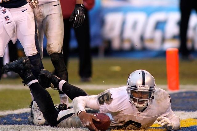 Oakland Raiders quaterback Terrelle Pryor is raising eyebrows with his play this season. Photo Credit: Jon Gaede
