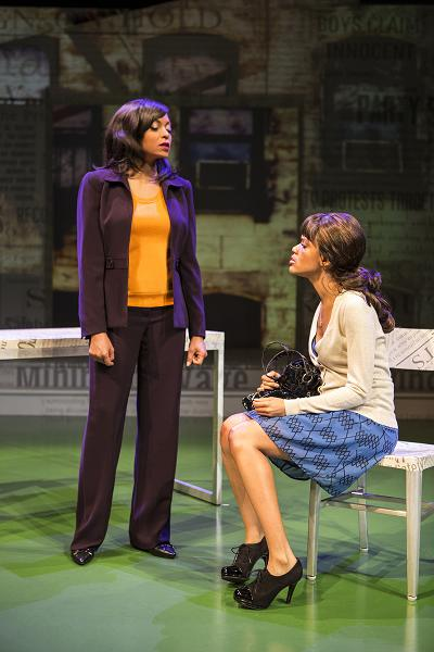 "Taraji P. Henson and Kristy Johnson act out a scene ""Above the Fold."" Photo Credit: Jim Cox"