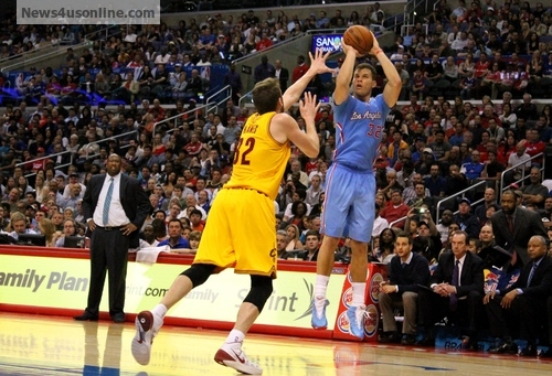 Leading the way: Blake Griffin's 21 points and 11 rebounds powers the Clippers past Cleveland. Photo: Dennis J. Freeman/News4usonline.com