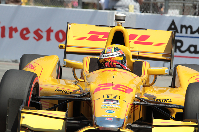 Ryan Hunter-Reay was the frontrunner of the Verizon IndyCar Series race at the 2014 Toyota Grand Prix of Long Beach until he caused a pileup on the track. Photo Credit: Jevone Moore/News4usonline.com