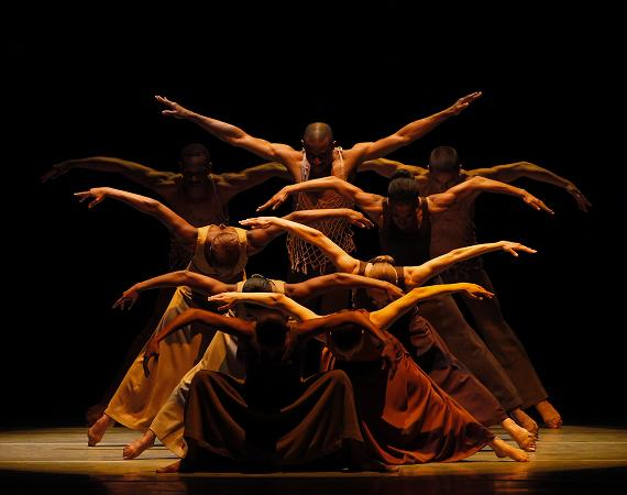 Alvin Ailey American Dance Theater in Alvin Ailey's Revelations. Photo by Paul Kolnik.