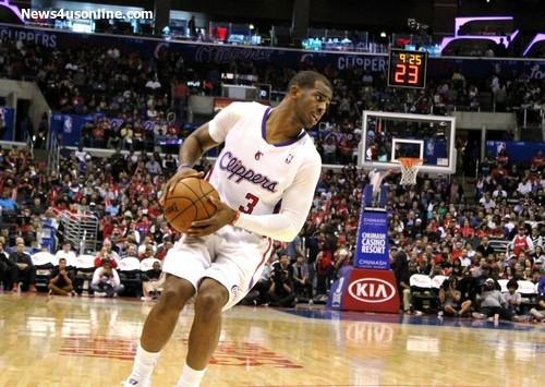 Despite scoring 21 points and handing out 16 assists, Chris Paul and the Los Angeles Clippers are now down in their series against the Oklahoma City Thunder. Photo Credit: Dennis J. Freeman/News4usonline.com