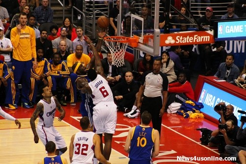DeAndre Jordan of the Los Angeles Clippers is the team's ultimate defensive weapon. Photo by Dennis Freeman/News4usonline.com