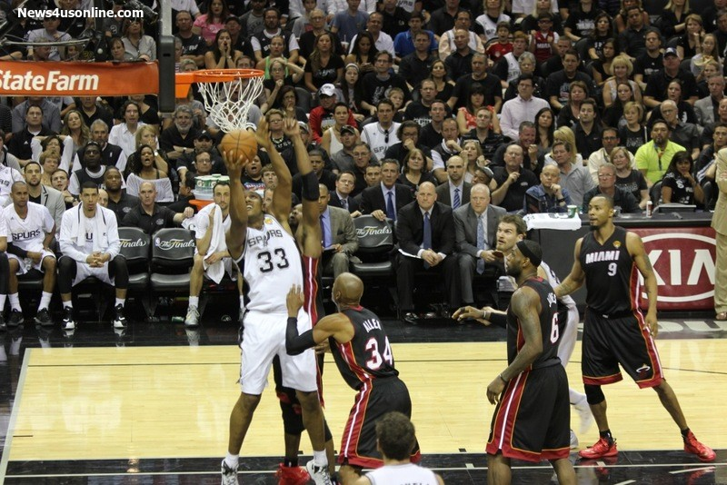 The Miami Heat has failed to contain Boris Diaw (33) and the San Antonio Spurs in this year's NBA Finals. Photo Credit: Antonio Uzeta/News4usonline.com