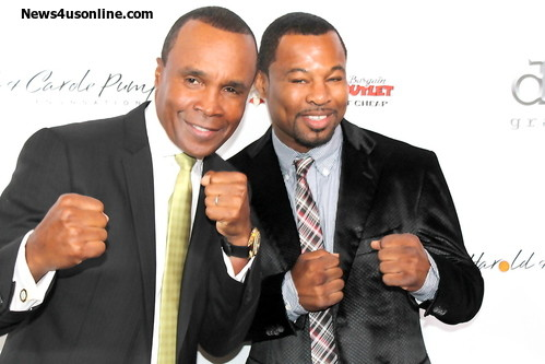 Sugar ray Leonard (left) and Sugar Shane Mosley on the red carpet of the Harold and Carole Pump Foundation gala in Los Angeles. Photo Credit: Dennis J. Freeman/News4usonline.com