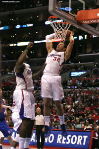Blake Griffin powers up against the Detroit Pistons during the 2013 regular season. Photo Credit: Jon Gaede/News4usonline.com