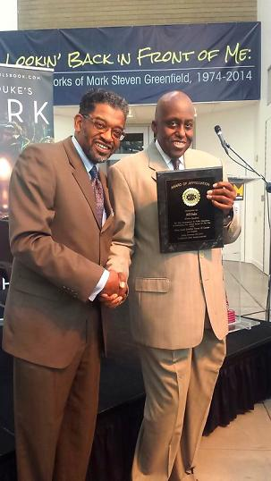 Dr. Anthony Asadullah Samad (left) and actor and author Bill Duke.